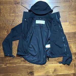 Burberry Hoodie Black jacket tech Windbreaker M